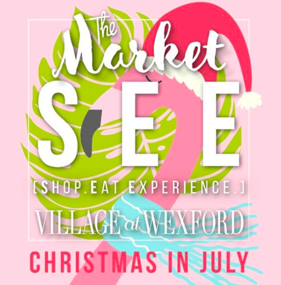 """Christmas in July"" Event in the Village at Wexford HHI, SC"