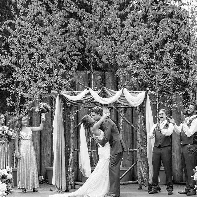 Happy 1 month anniversary to Jessica & Marty!! We had such a great night at Black Diamond Gardens- I loved hearing the story of their first date, and being a part of all the love that surrounded them.  Photo Cred: @dbkphotography  Venue: @blackdiamondgardens  Floral: @lovebloomsweddings  Dress: @thedresstheory  #ido #youmaynowkissthebride #love #tyingtheknot #happilyeverafter#kissthegirl #seattleweddingplanner #wedding #jessmarrysmarty