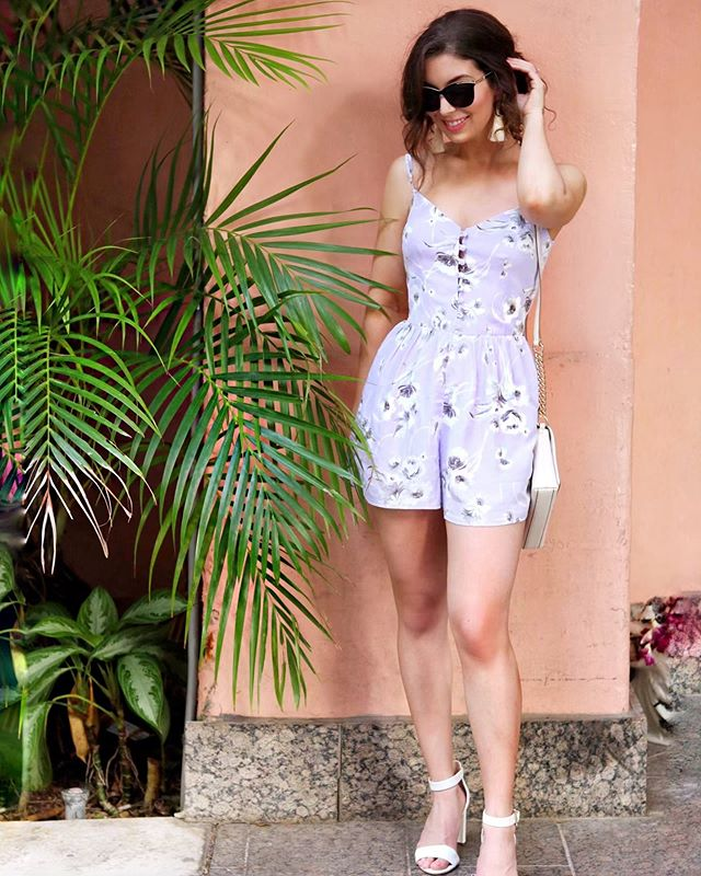 Do you ever look at blogger's spring-inspired  Instagram posts and wonder how they had the time to plan a full professional photo shoot with spring flowers?! - Well I had full plans of wearing this lilac @adorncalgary romper while exploring Calgary searching for the best lilac bushes for IG pics... - But then I decided that scrolling through Instagram and watching other people post lilac pictures takes much less effort. 🤷🏻♀️
