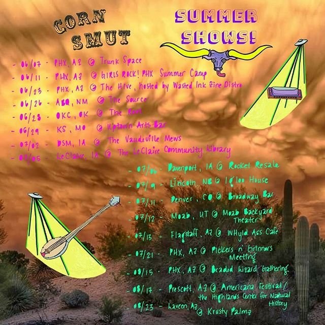 ~~》monsoon season is bringing you 3 remaining summer shows with thee 🌽Smuts... check it! ↕️