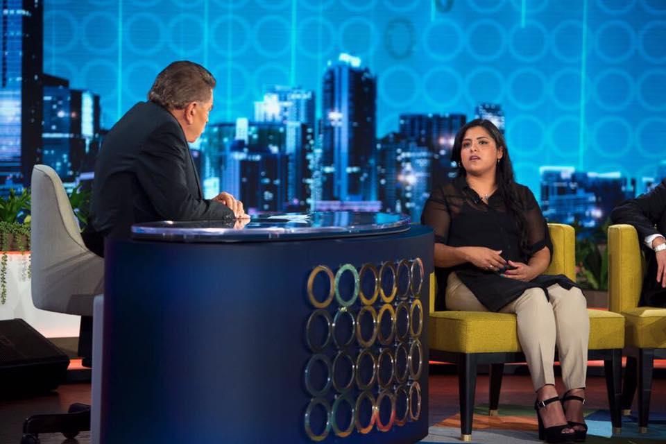 Karla entrevistada por Don Francisco