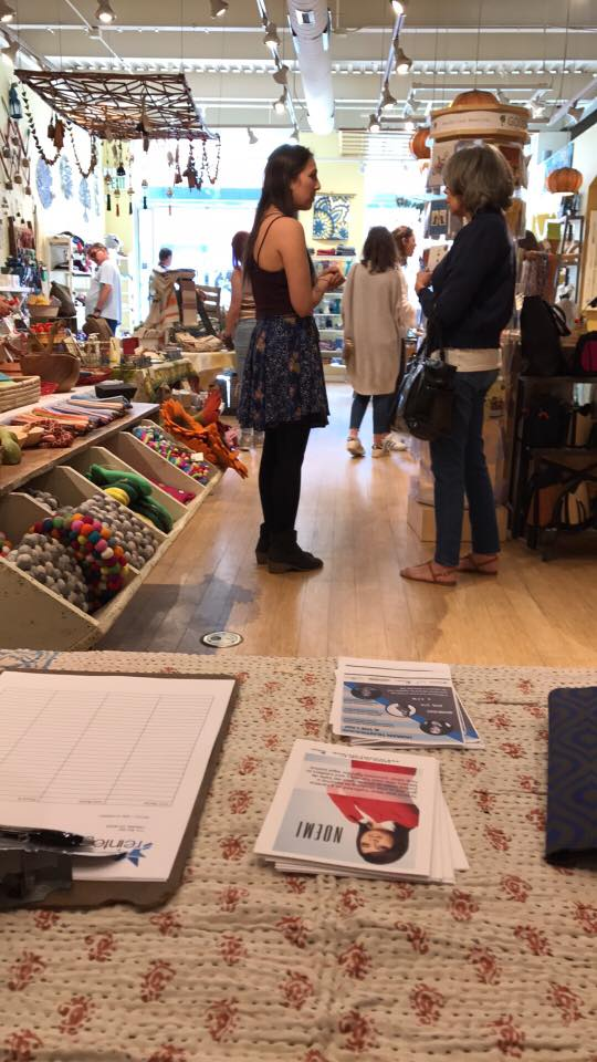 Shop for Survivors at Momentum on Pearl Street in Boulder... - 15% of all sales throughout the day go to Reintegra. Nancy, one of our sponsored survivors, will be there with her son Mateo between 1:00 PM and 4:00 PM. You can meet her and participate in interactive art as you shop for Survivors.(Momentum is located east of the walking mall, next to Snooze.)