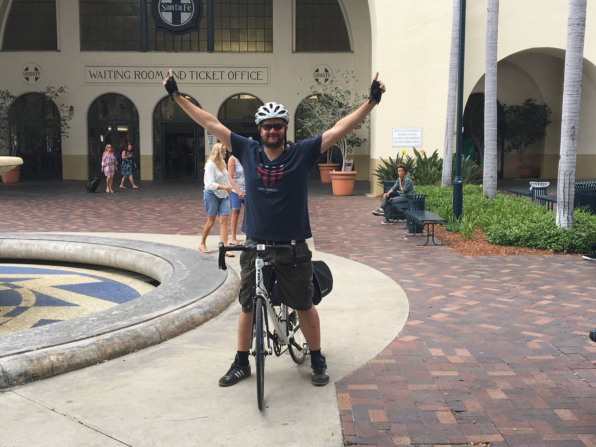 Sante Fe Depot, San Diego, at the end of my two-day charity ride.