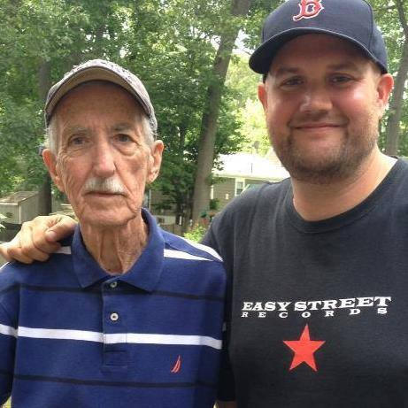 With my Dad on his 75th birthday. June, 2014.