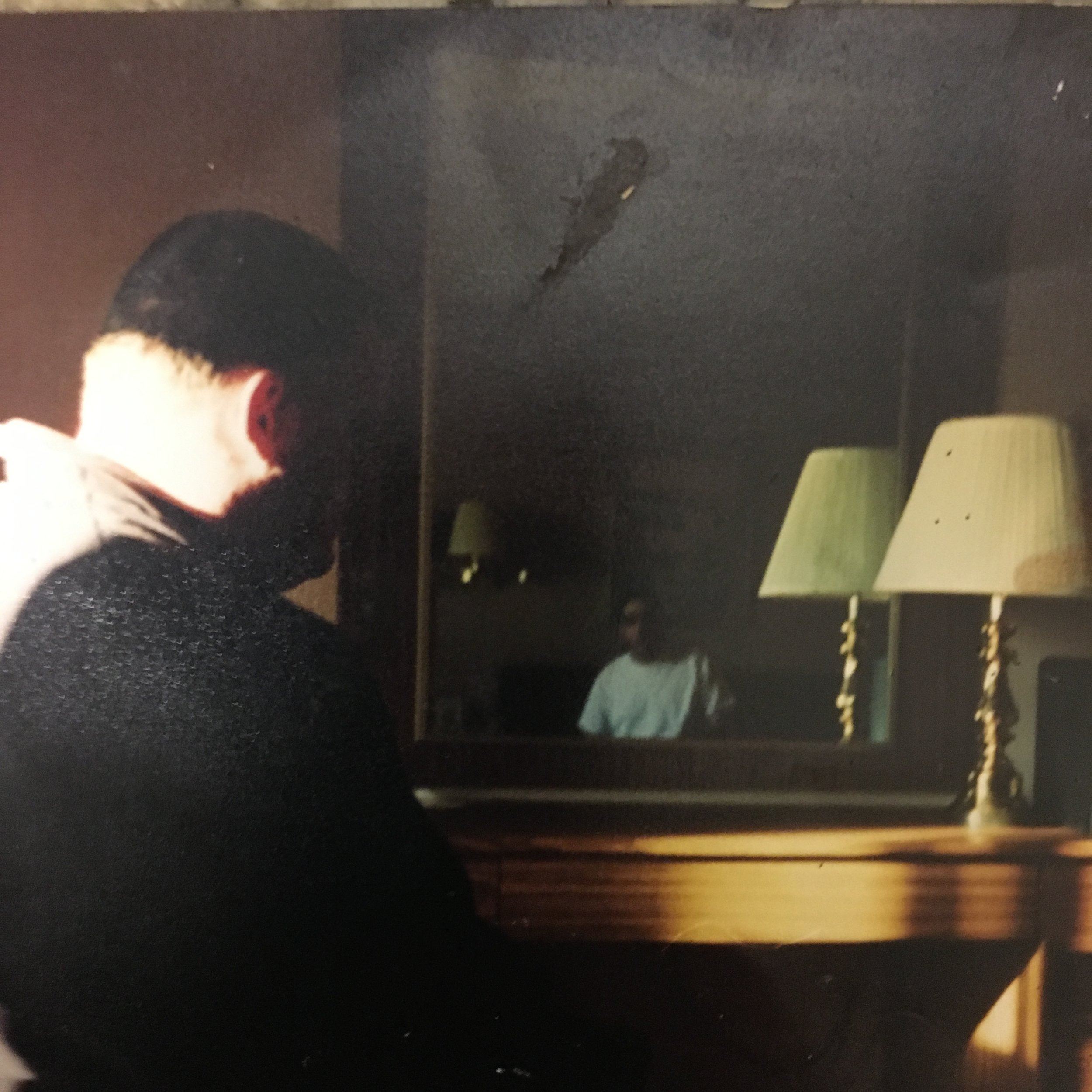 The only picture of Bob (left) in my possession. Hotel room on a road trip to Philadelphia to see ECW wrestling, 1995.