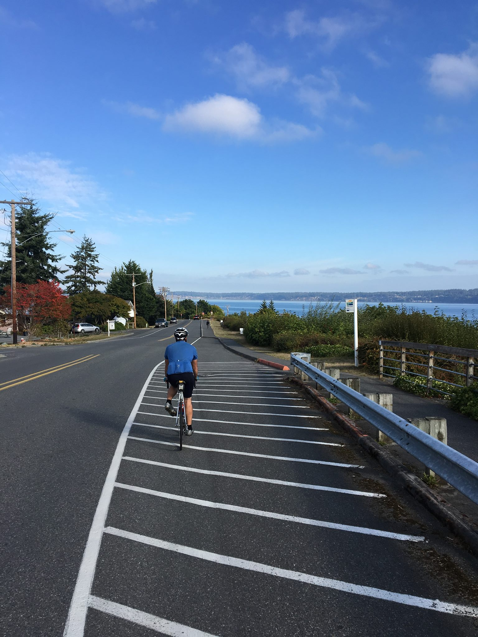 Struggling to keep up with my friend Jared on Whidbey Island.