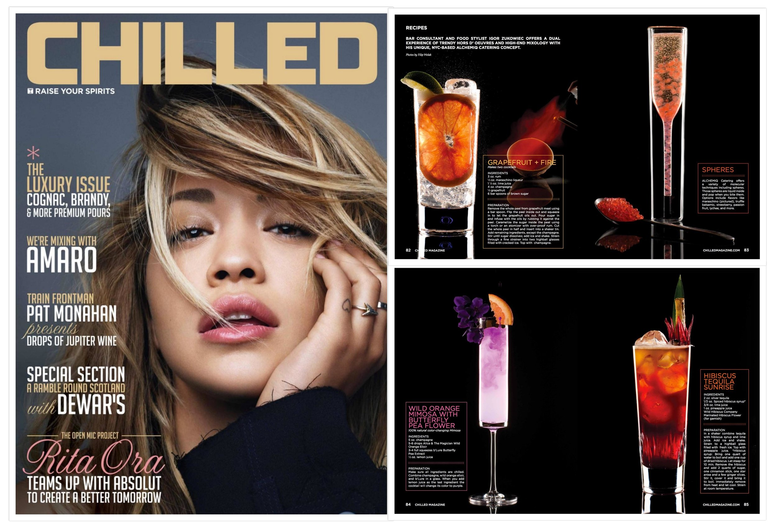 4-page feature in  Chilled Magazine .