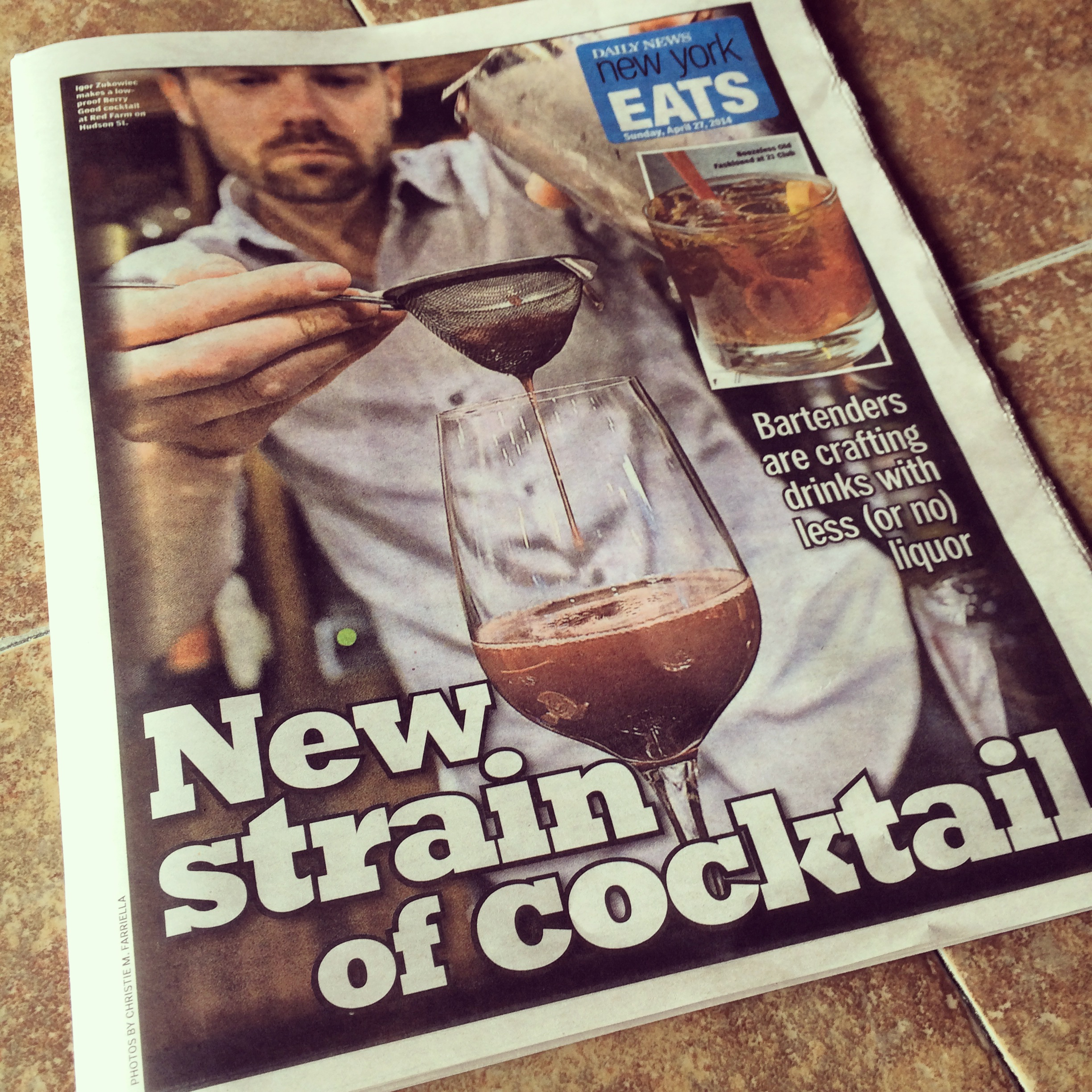 Igor on the cover of the Daily News Eats.