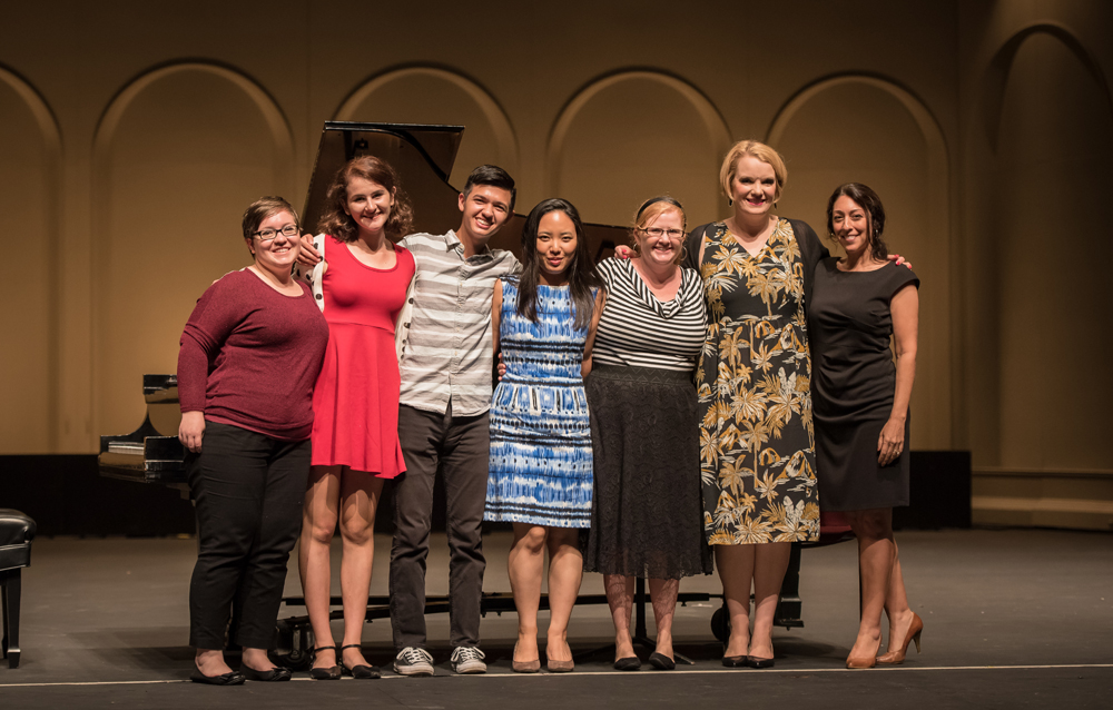 Vocal Masterclass participants with special guest, Maya Hoover