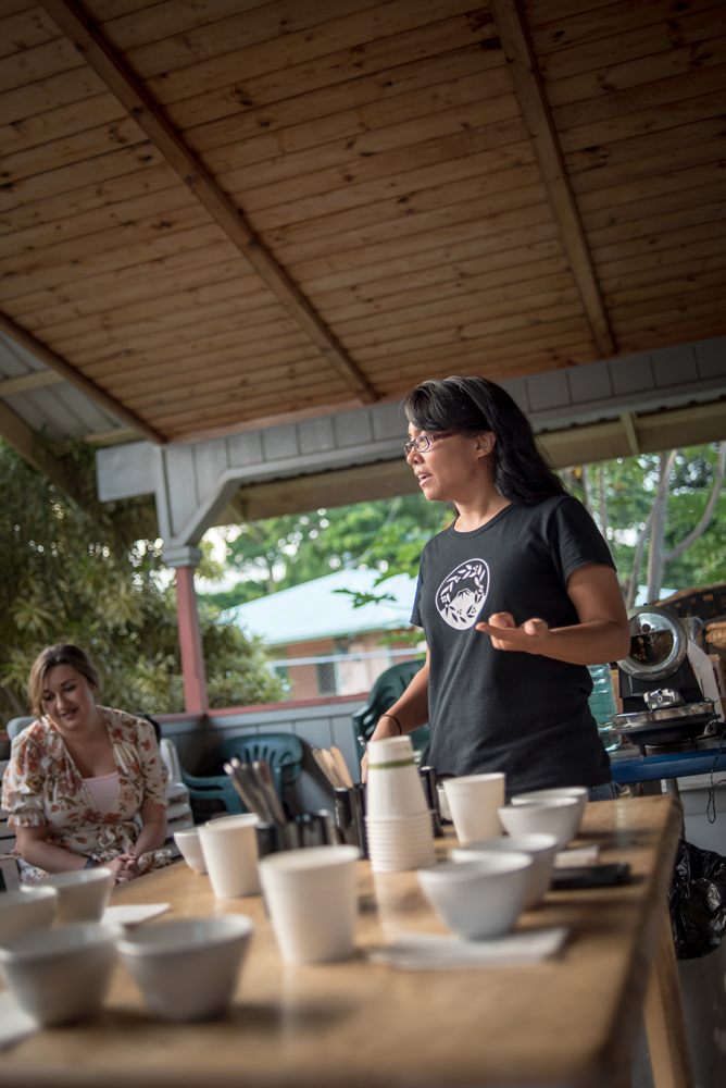 Joan Obra leading a coffee tasting