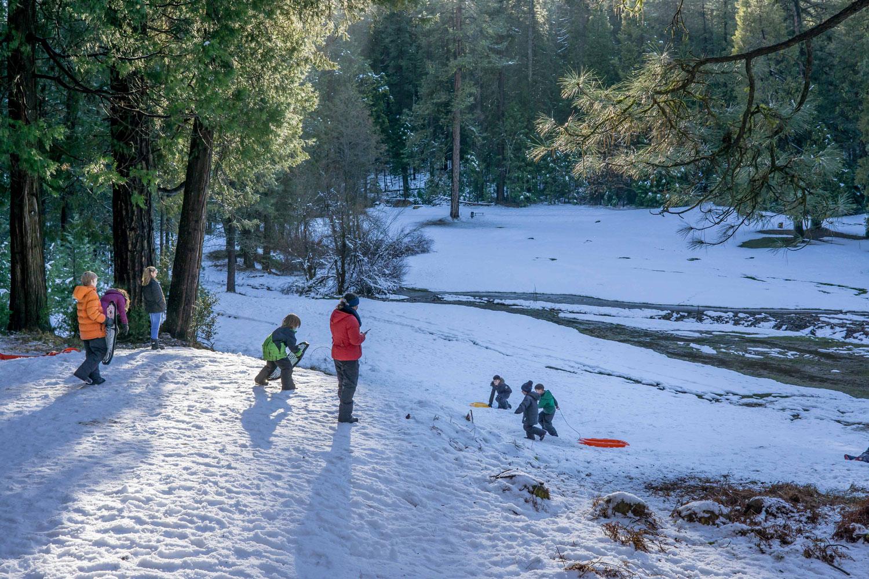 Wintertime fun in Yosemite