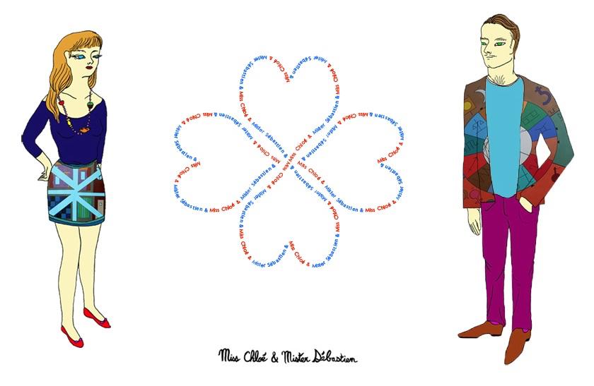 """Miss Chloe & Mister Sebastien"" with artist Chloe Paganini"