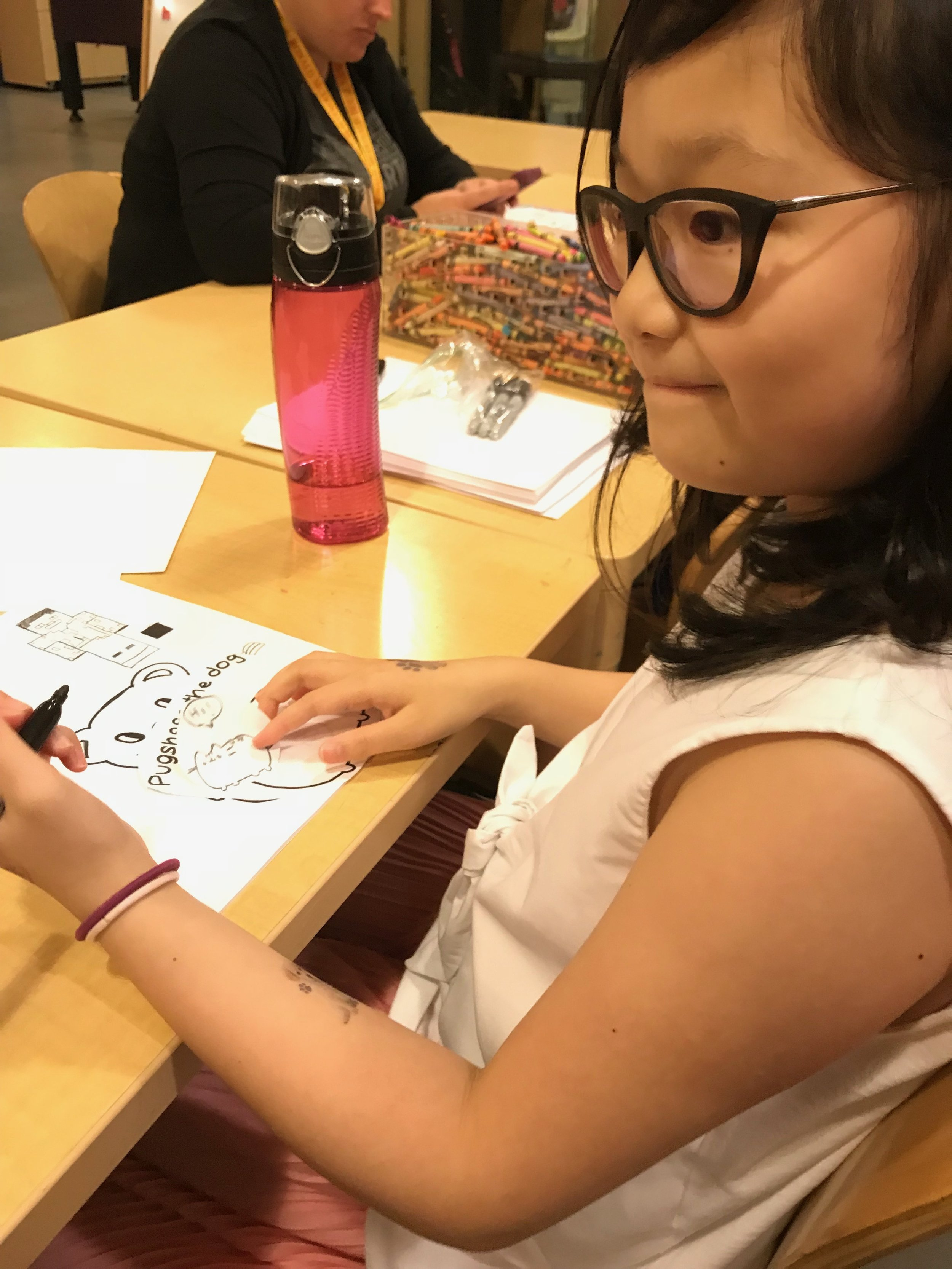 Belle is a 9-year old girl from China. She was in New York just in time to participate in our initiative
