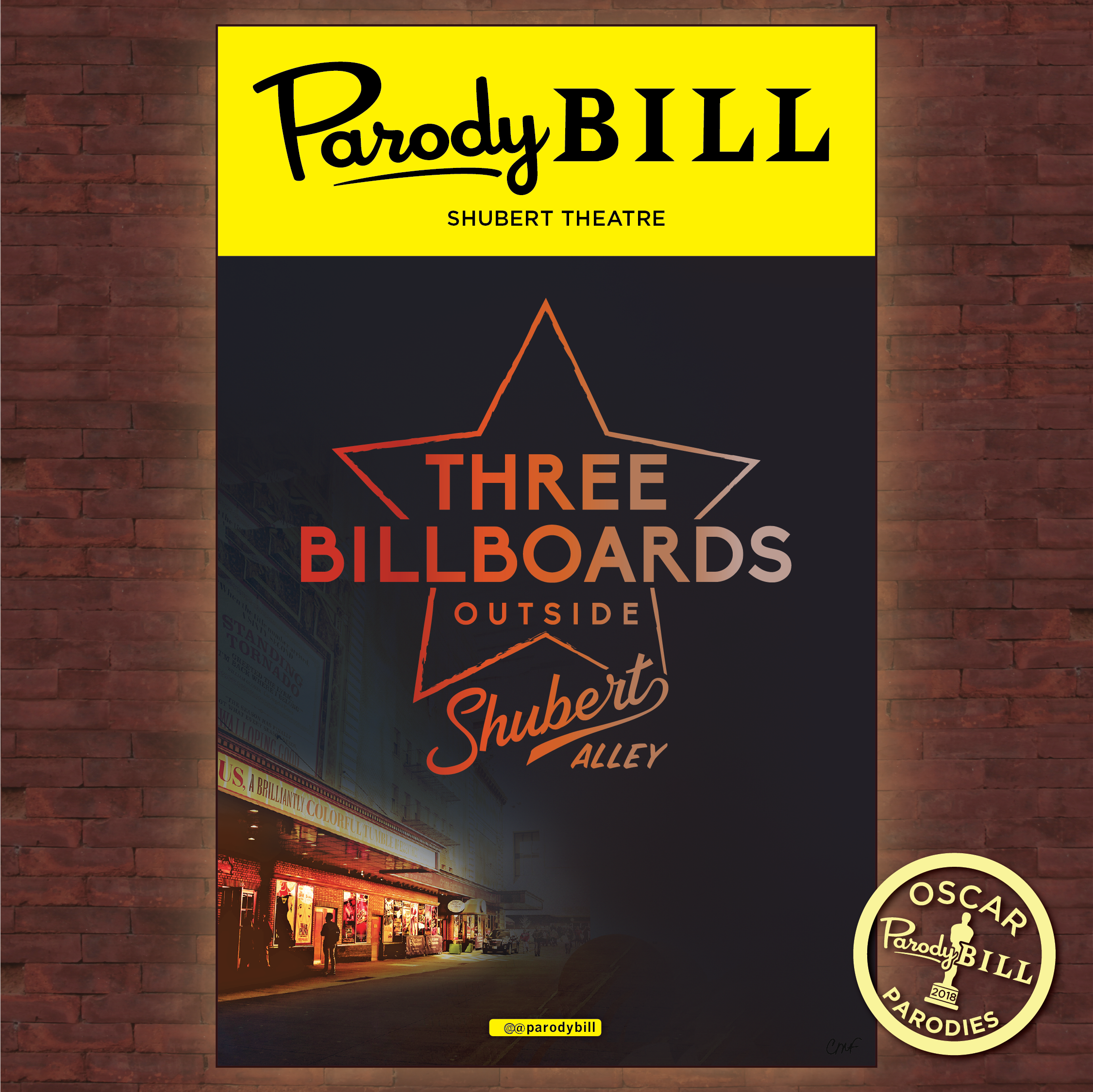 THREE BILLBOARDS OUTSIDE SHUBERT ALLEY