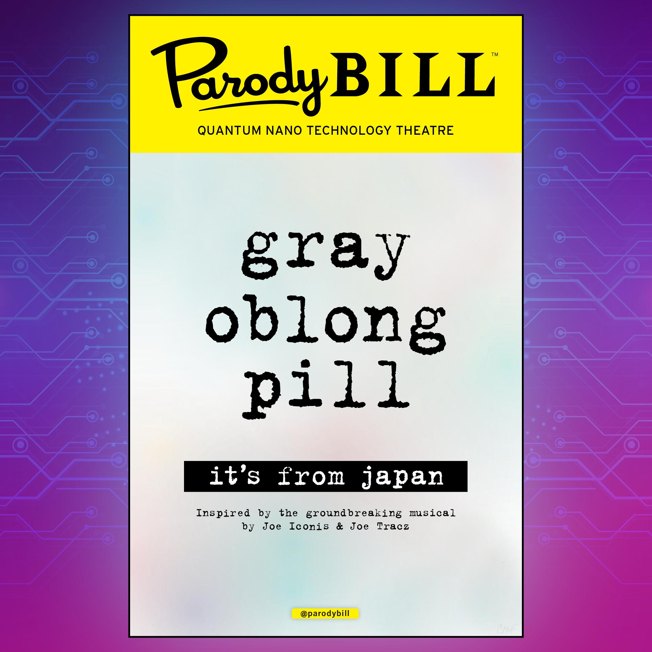 Gray Oblong Pill