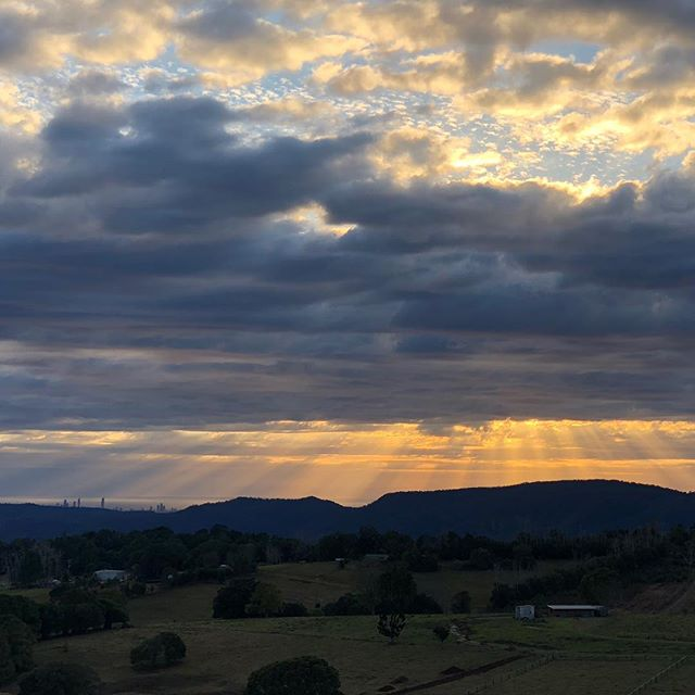 We had a moody sunrise on the mountain this morning after some much needed rain overnight.