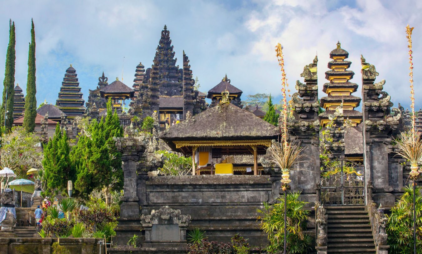 Visit Bali's historic temples that are surrounded by breathtaking views