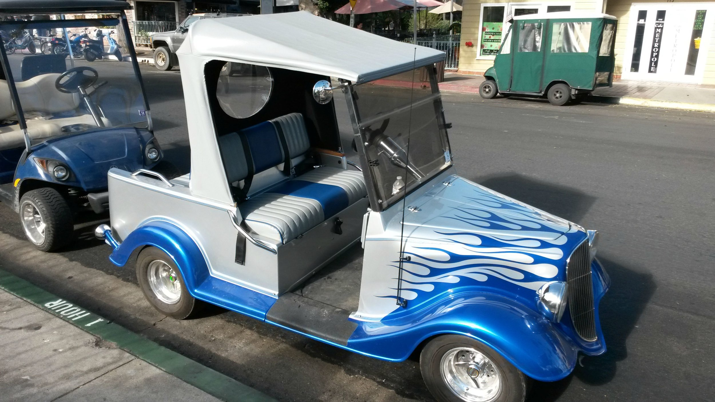 Now THAT'S a golf cart...
