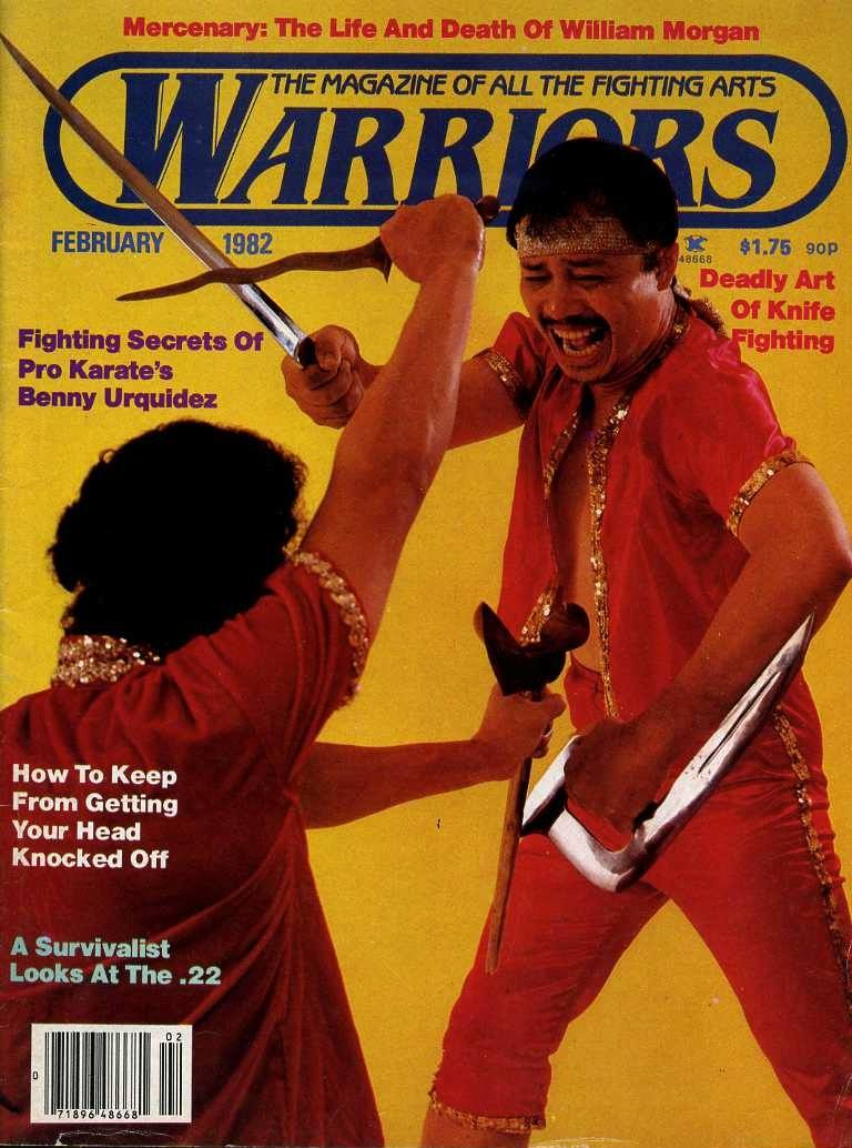 Grand Tuhon Leo T. Gaje Jr. on the cover of Warriors Magazine, 1982.
