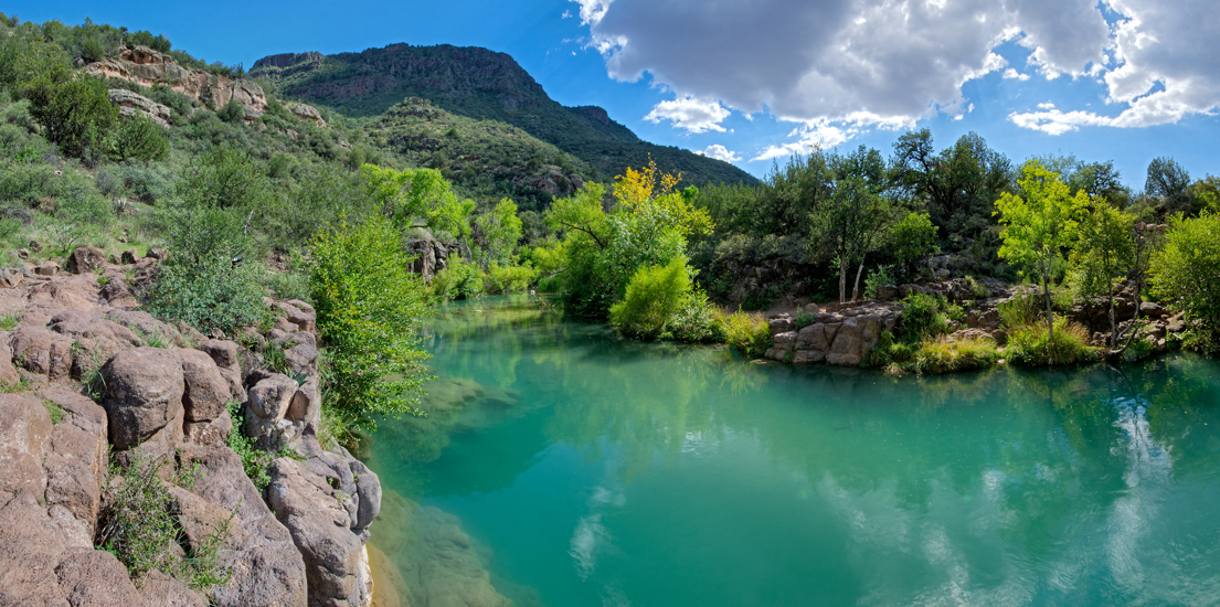 Fossil Creek in Pine-Strawberry is a popular hiking destination and swimming spot in the summertime