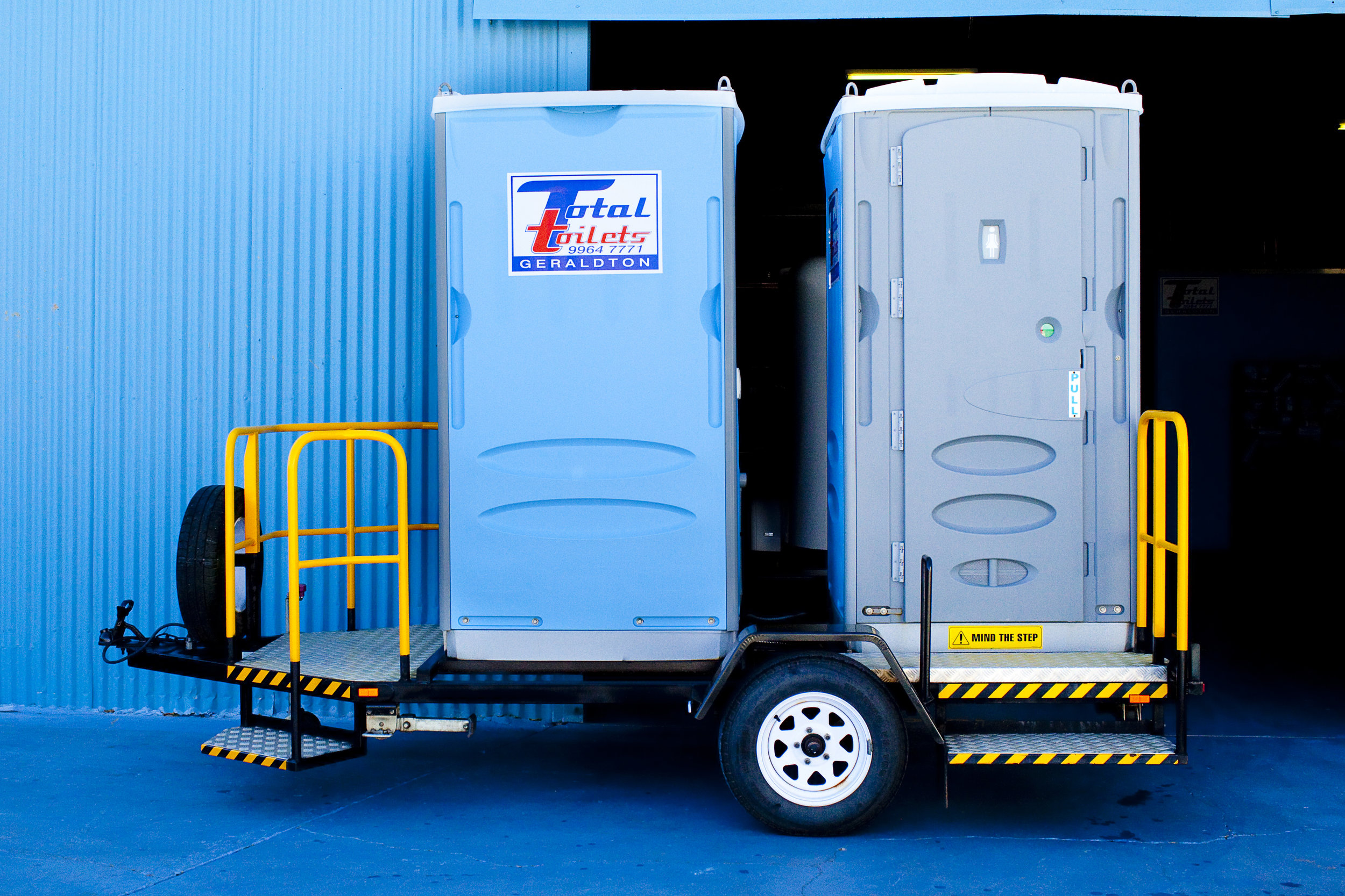 Double Trailer Mounted Toilet