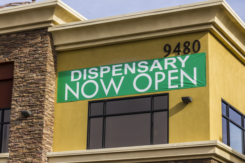 California Cannabis Laws dispensary open sign