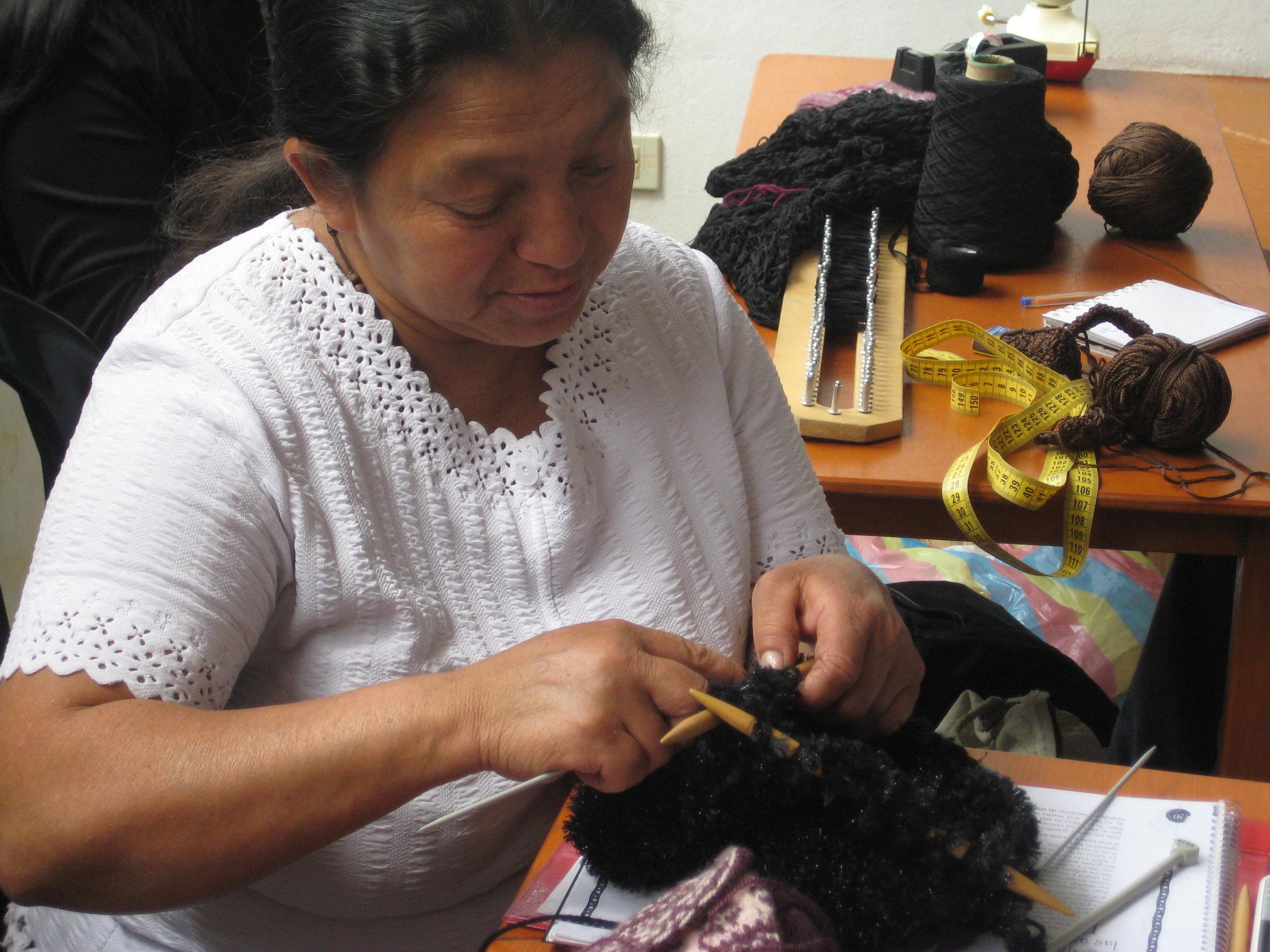 Maria Rodriguez, Knitter