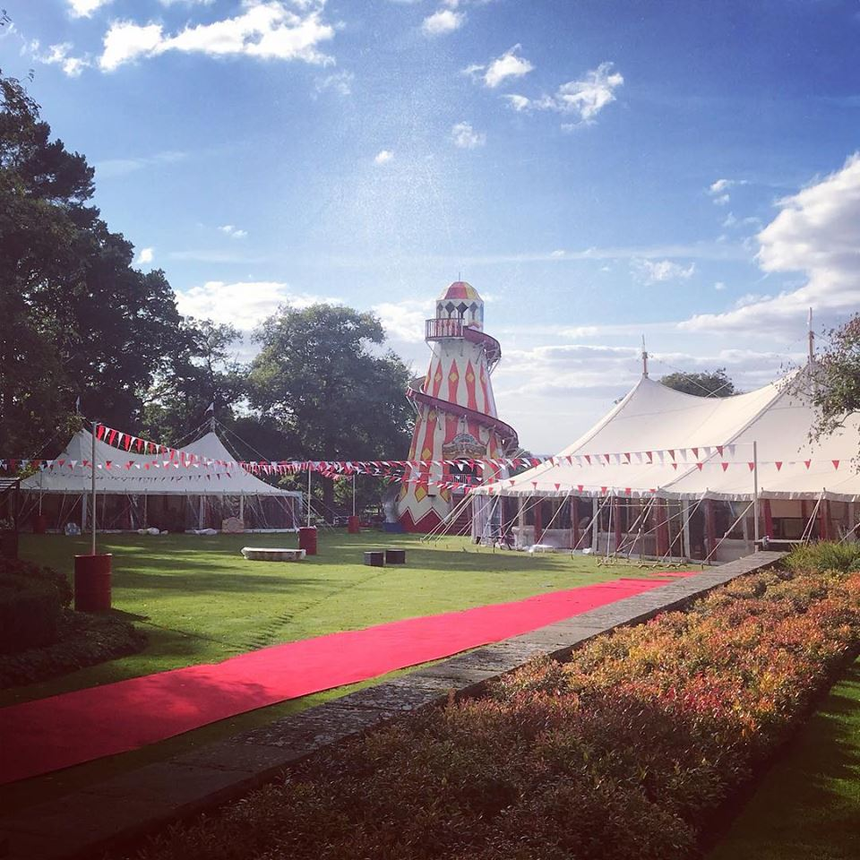 Check out this exciting circus set up by our friends  Original Marquees ! Don't you think their  Wills Marquees  tents look absolutely amazing?!