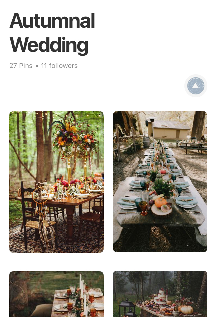 We love this time of year and after a weekend of soaking up the autumnal sun, we're feeling inspired! We've been pinning creative ideas for those of you who are considering an October wedding 🍂
