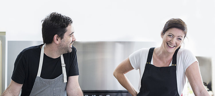 Dave and Charlotte - The chefs behind We Feed You