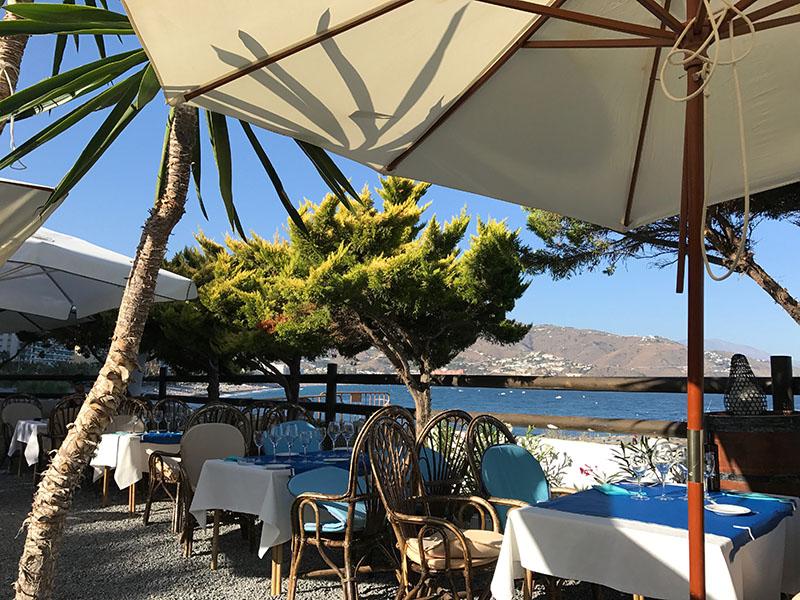 Beach-side restaurants