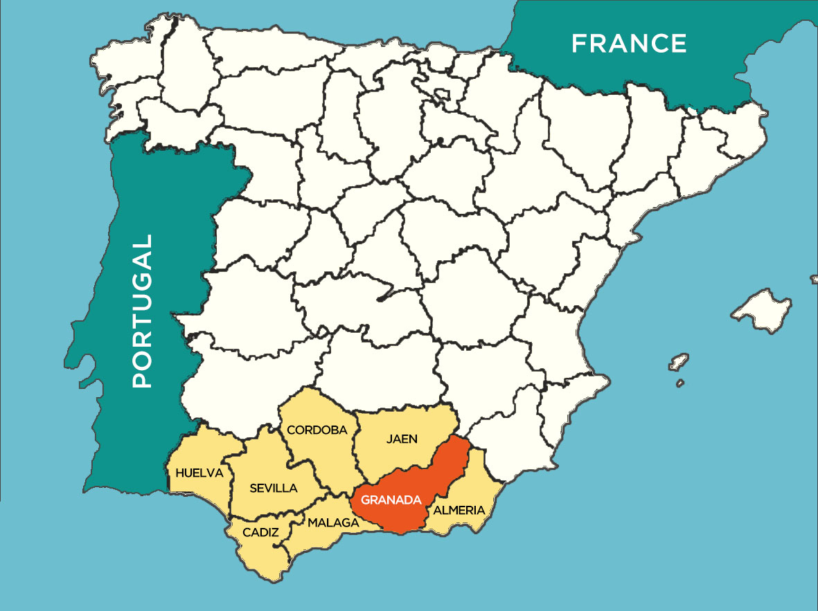Granda province map