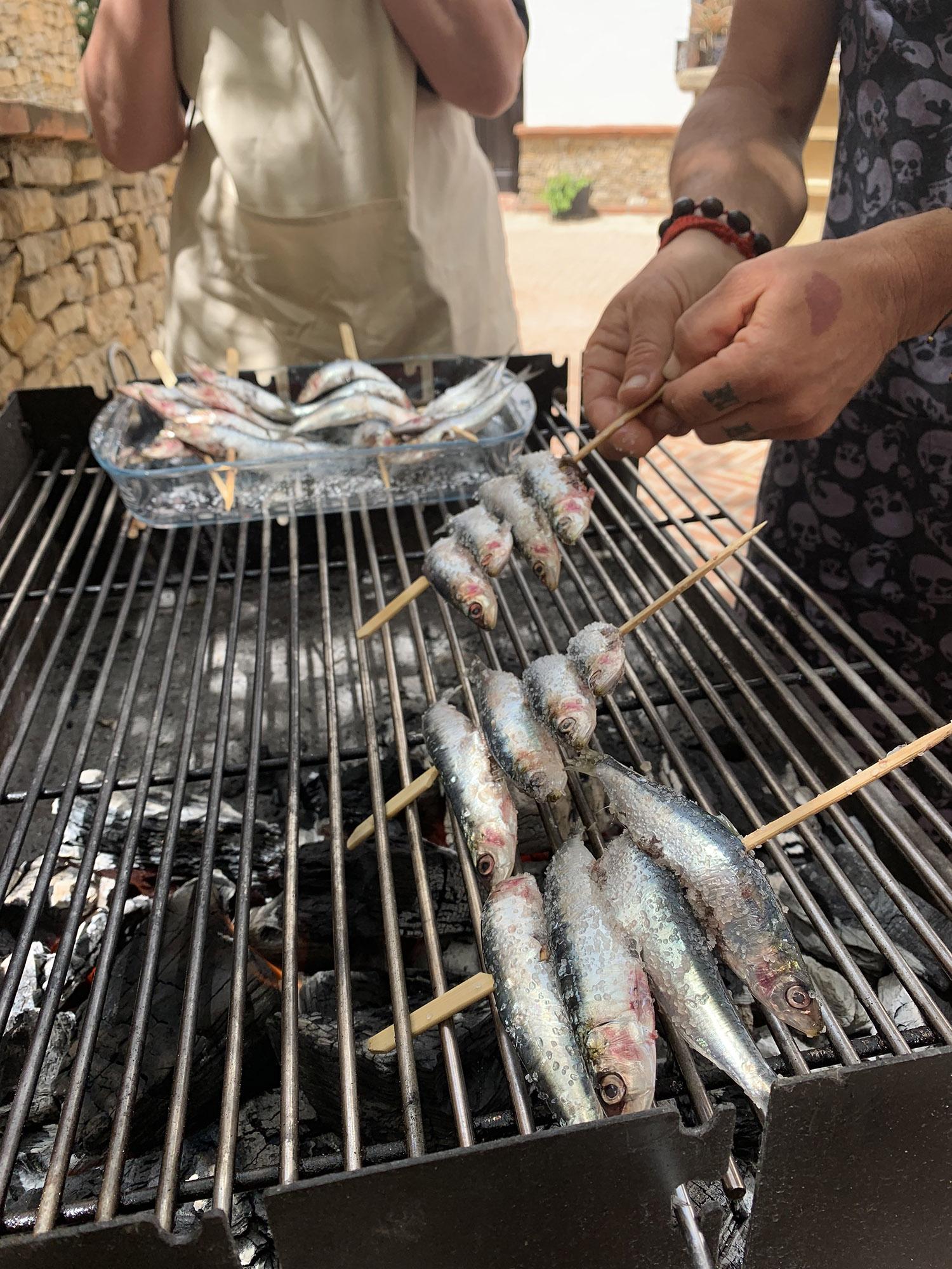 'Espetos' BBQ sardines