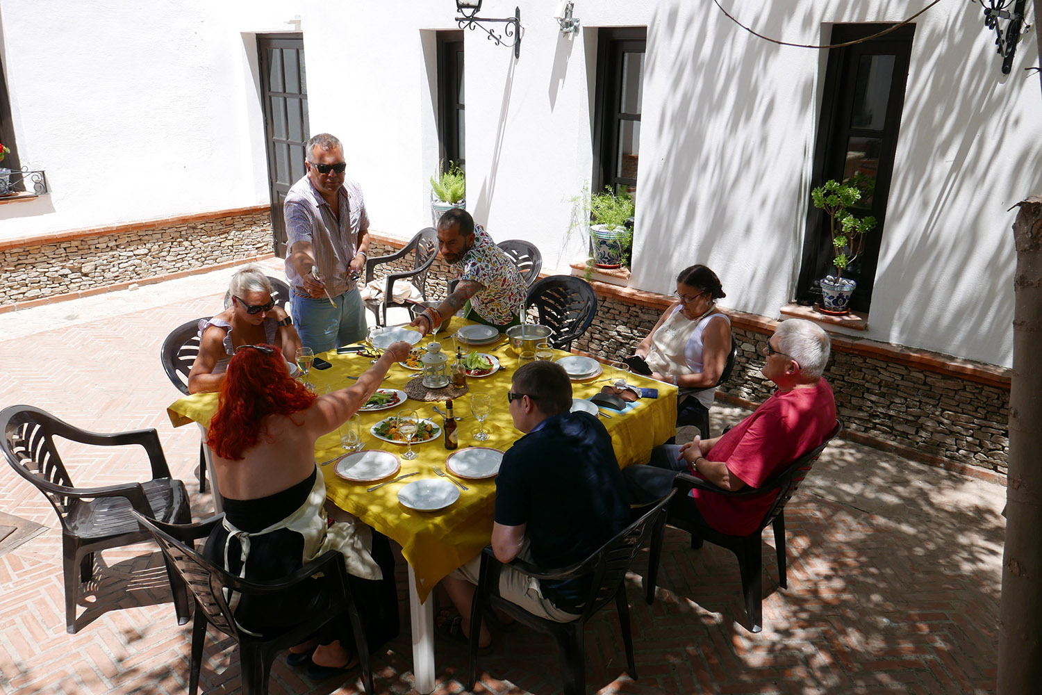 Lunch in the courtyard
