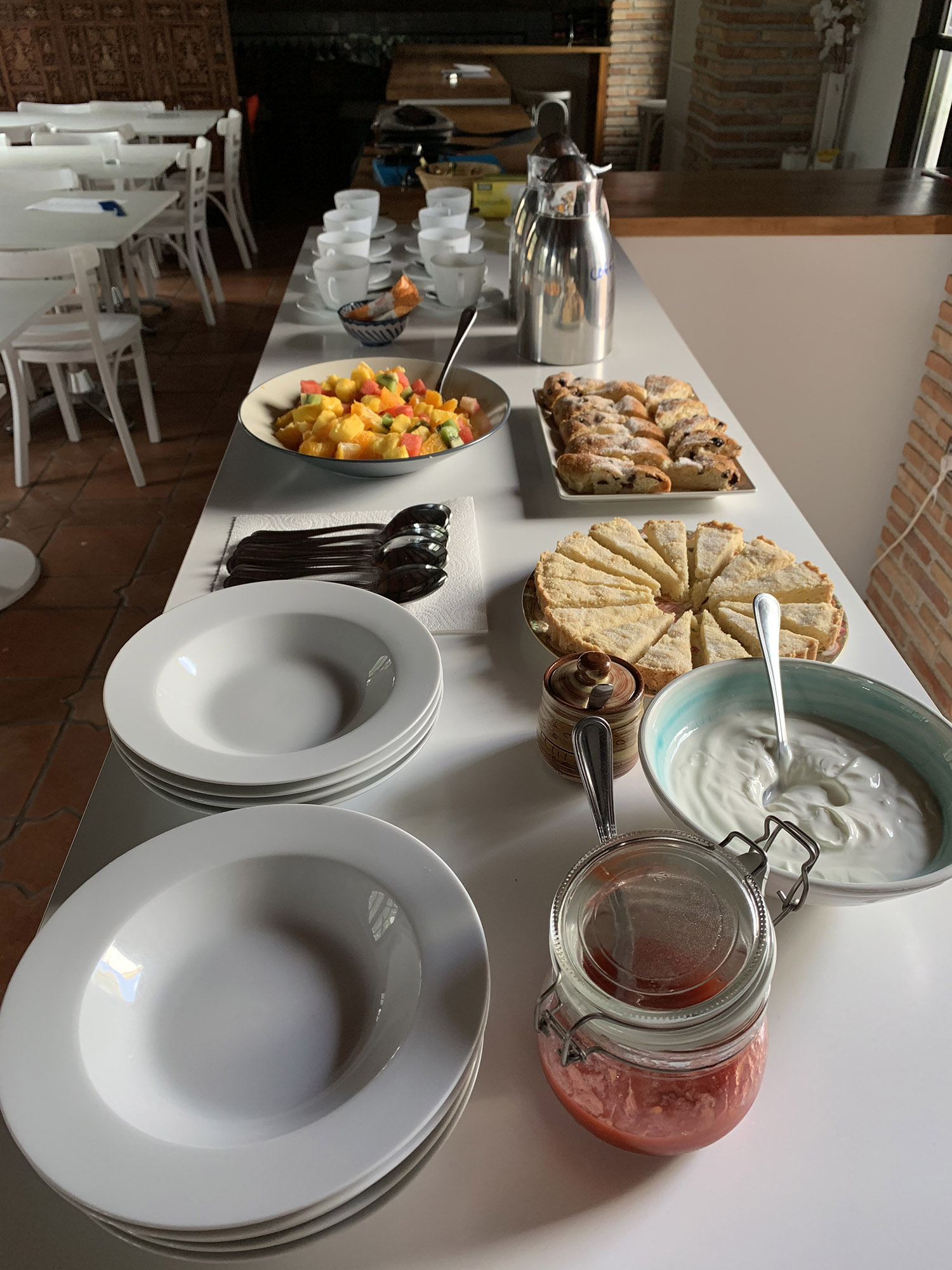 Breakfast, freshly prepared every morning