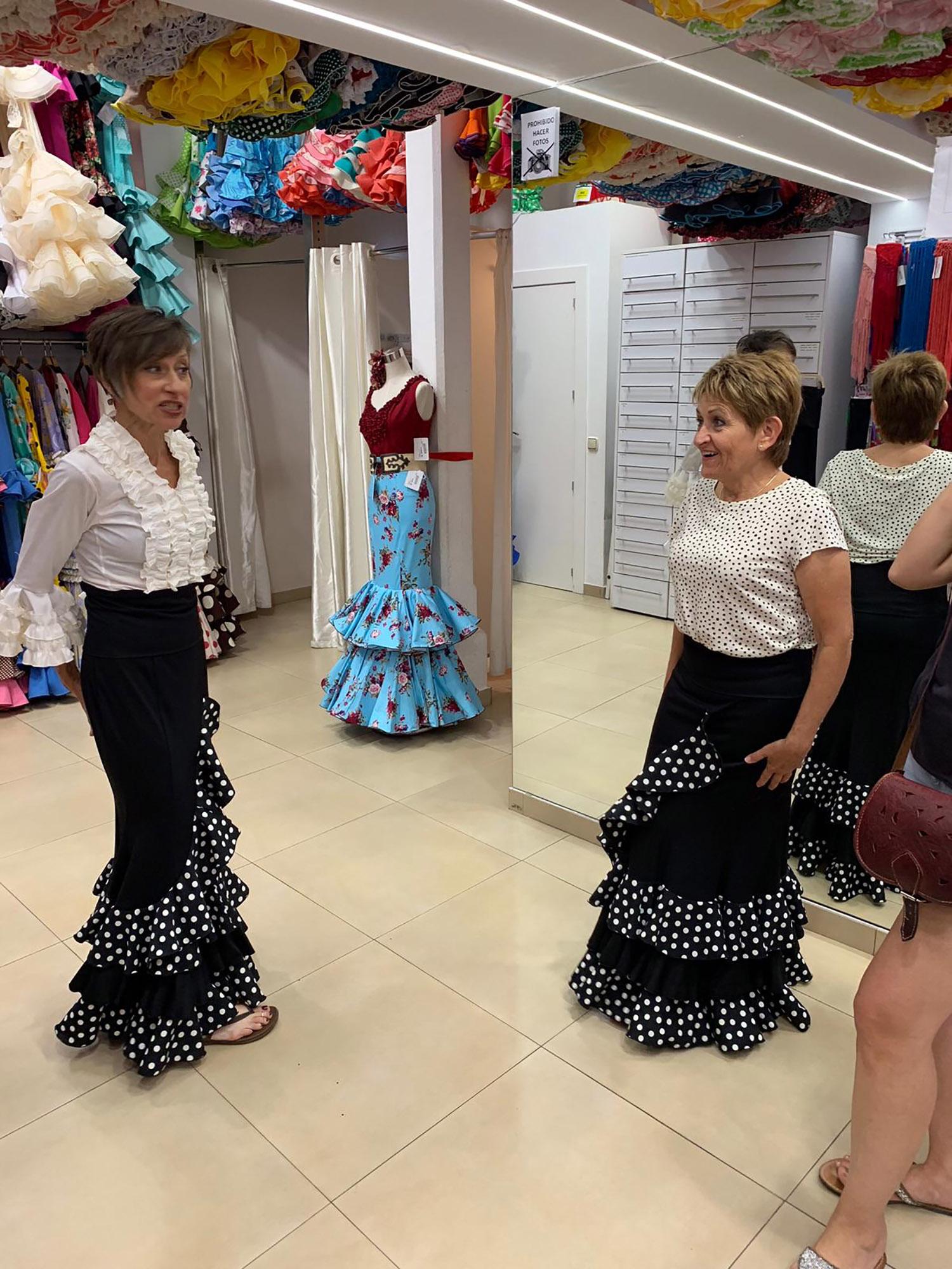 Trip to El Rocio to buy flamenco outfits