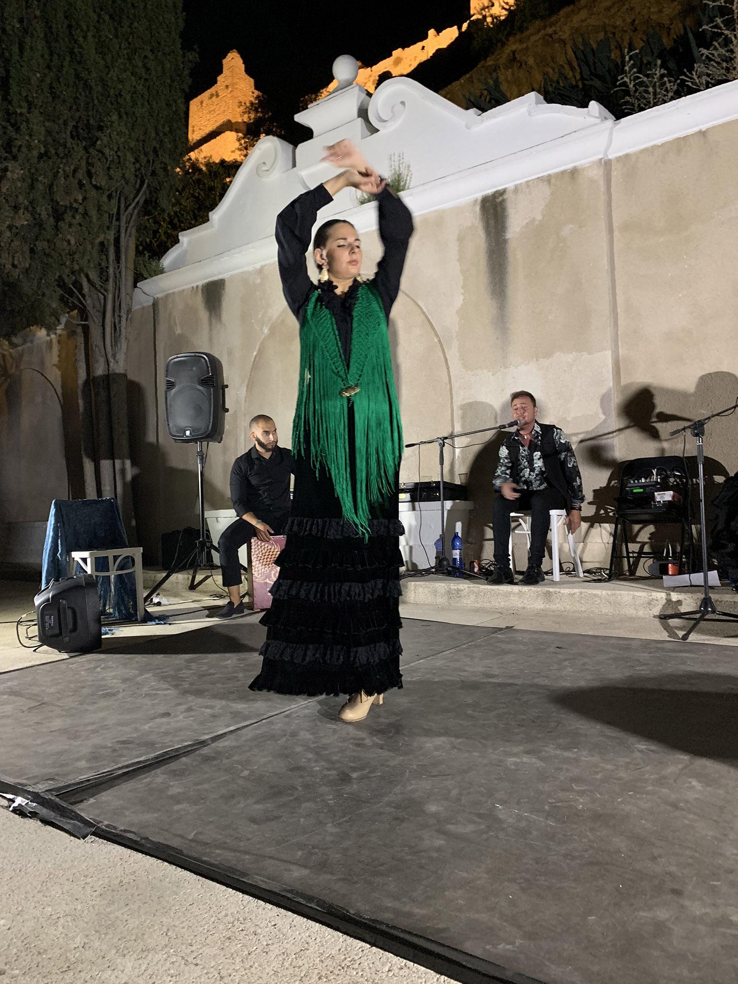 Natalie performing