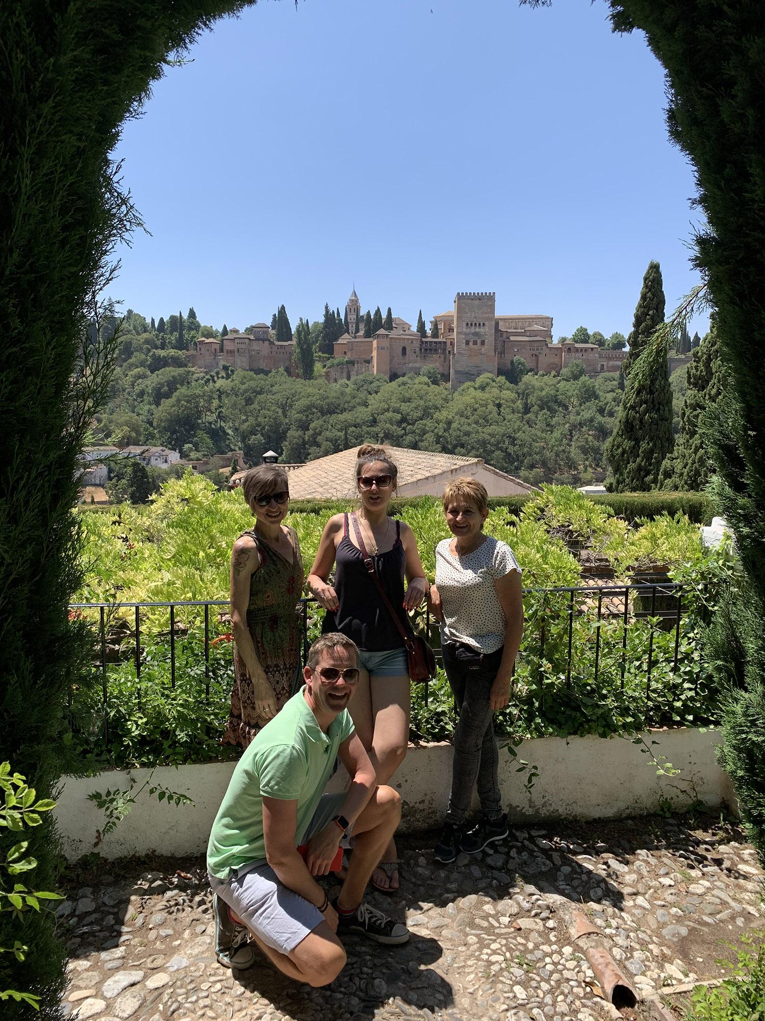 The Alhambra from a secret garden in Sacramonte