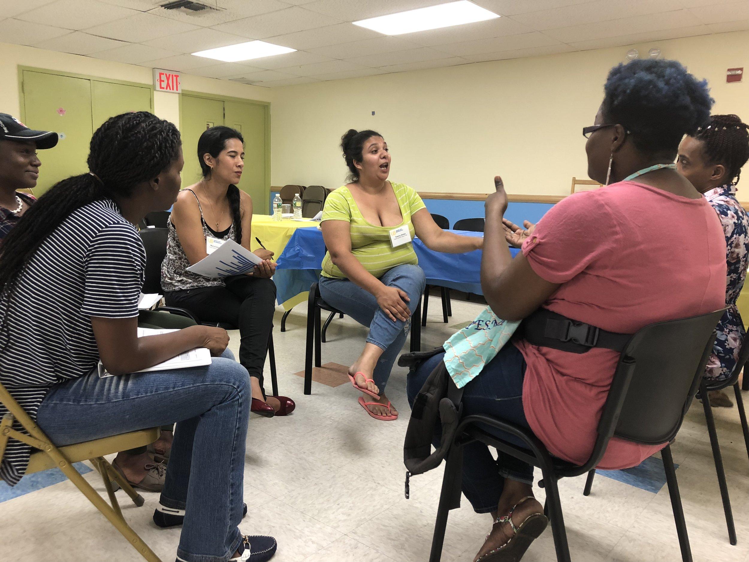 FAB members work through a proposal