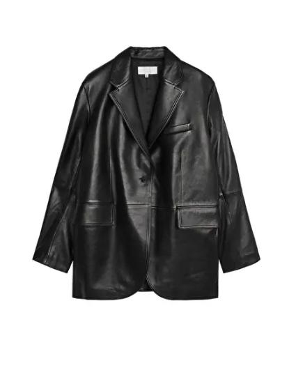 ARKET Leather Blazer