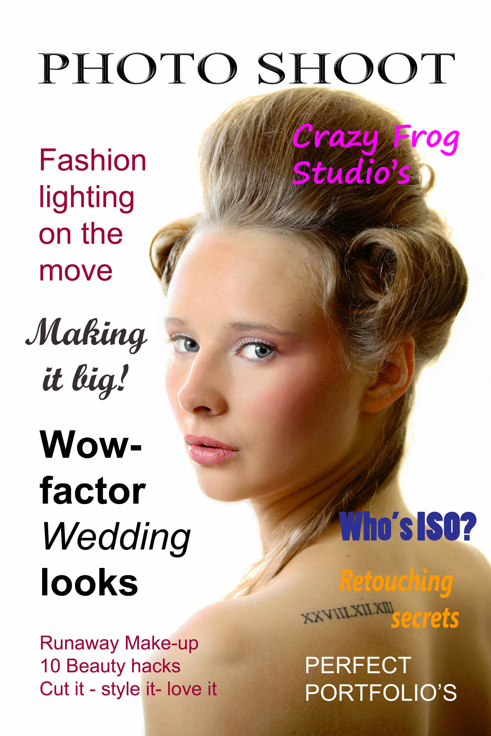 Photo Shoot magazine sample cover headshot