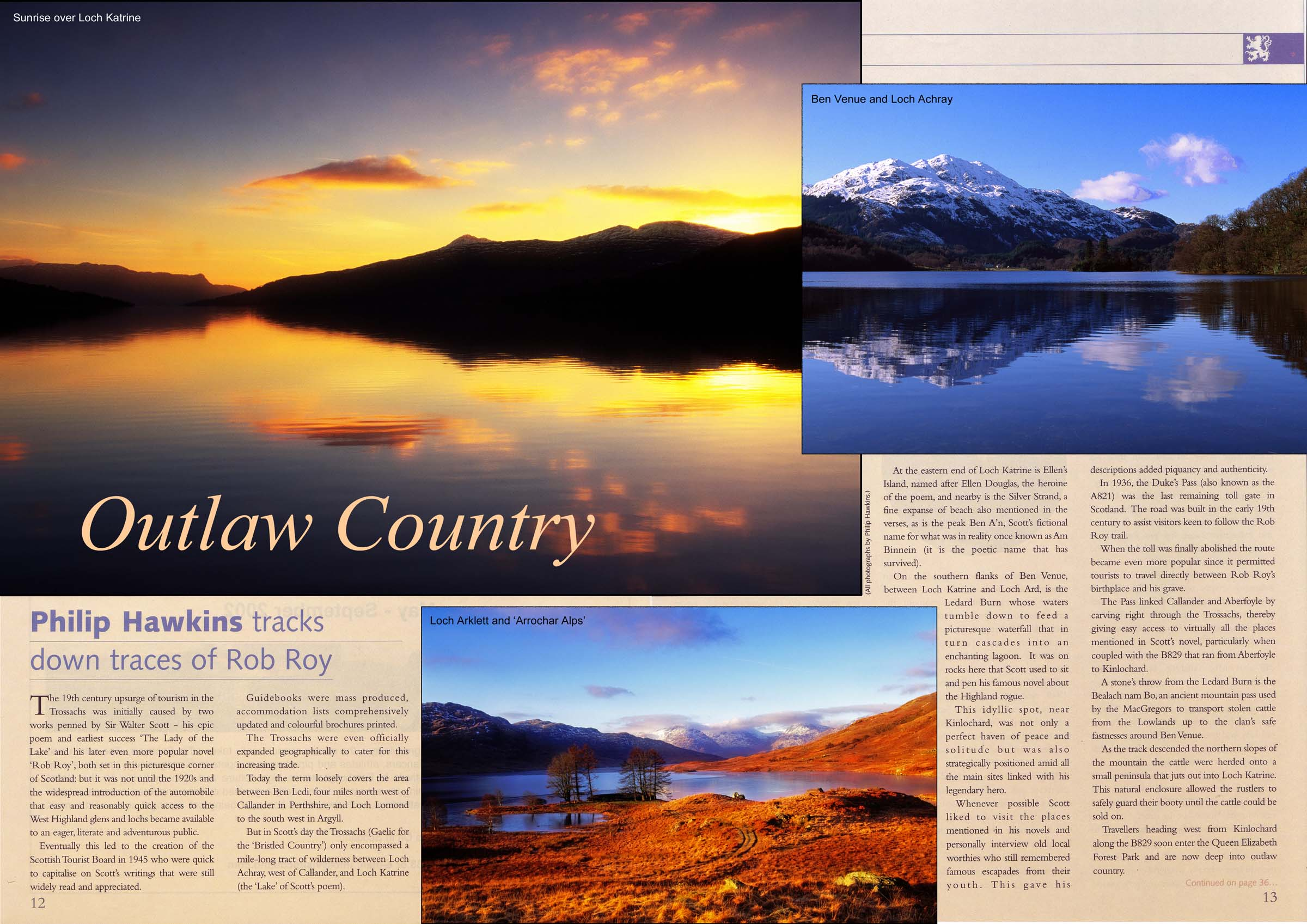 Magazine article, writing and images by Philip Hawkins