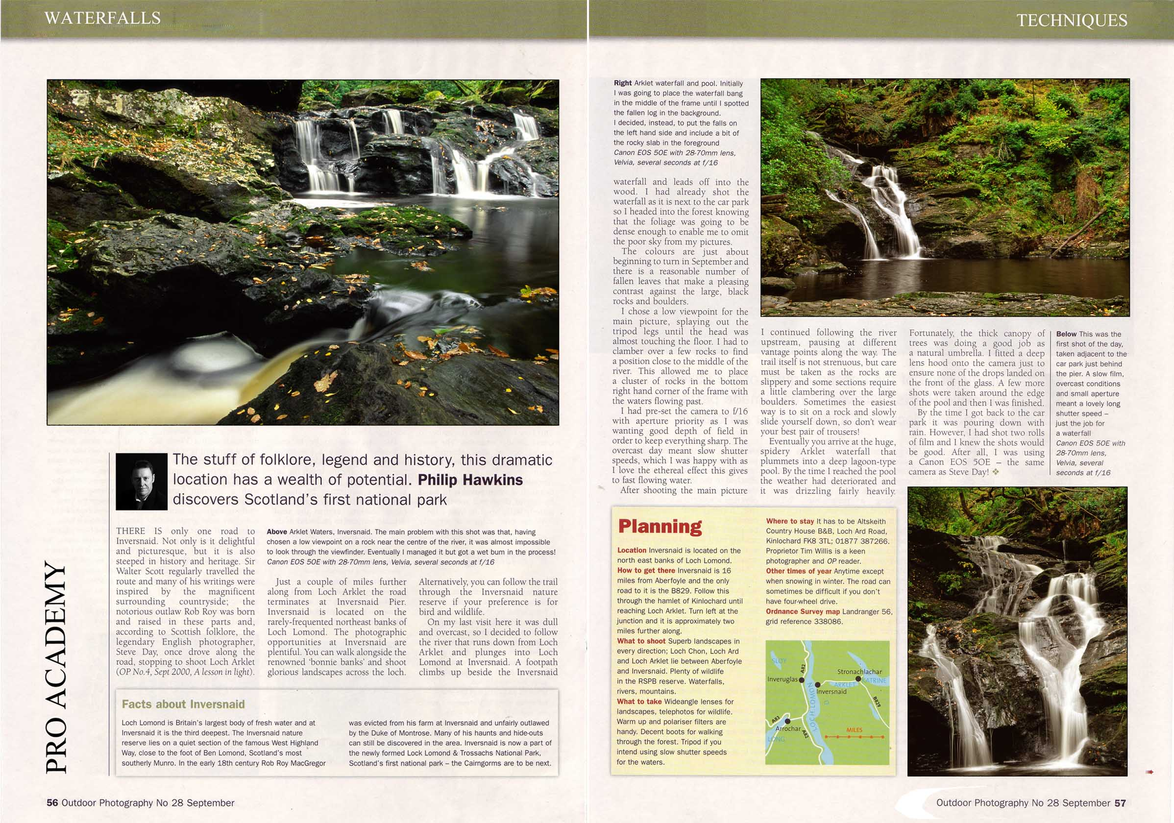 Photography techniques magazine article by Philip Hawkins