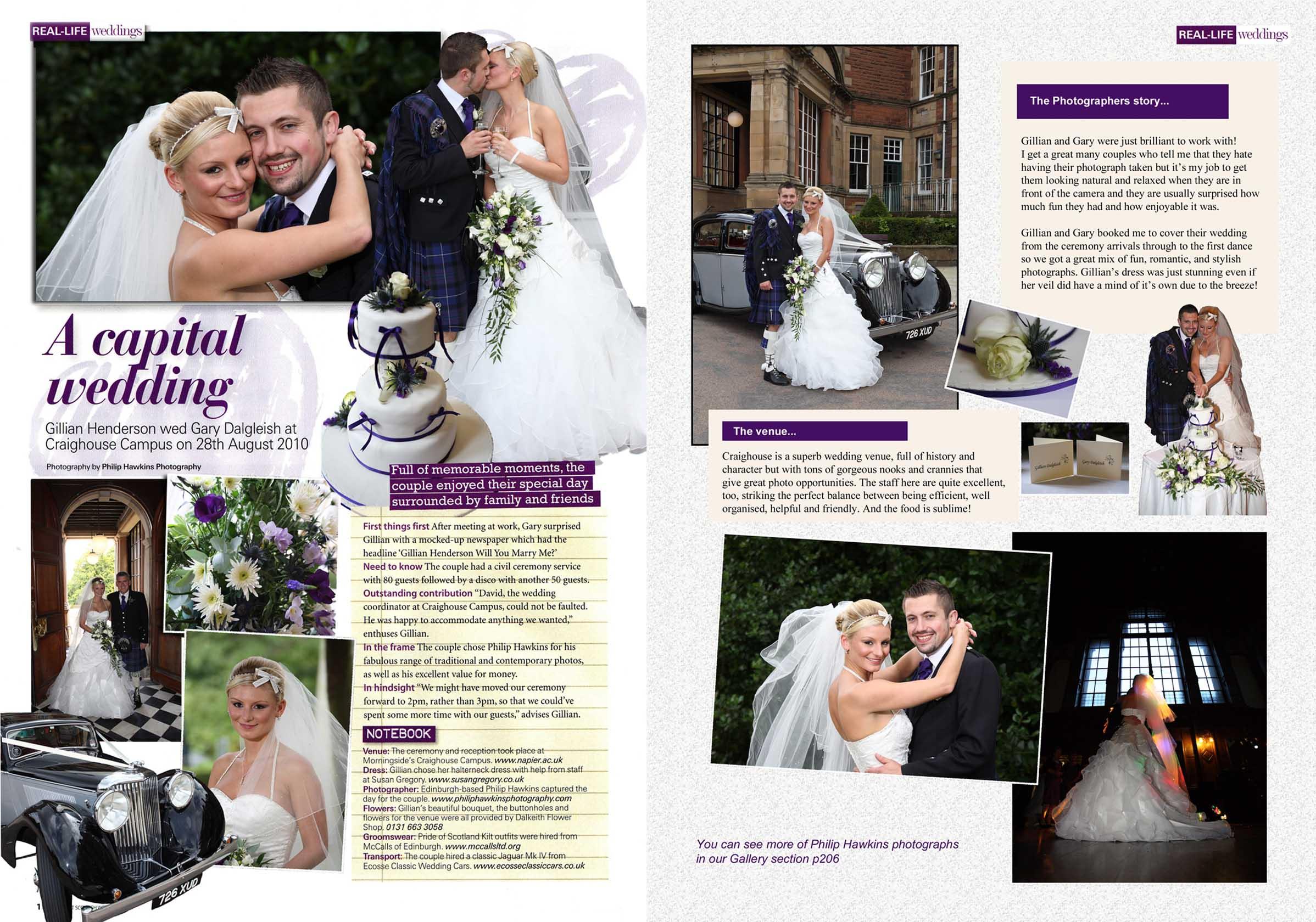 Real Life Wedding magazine feature