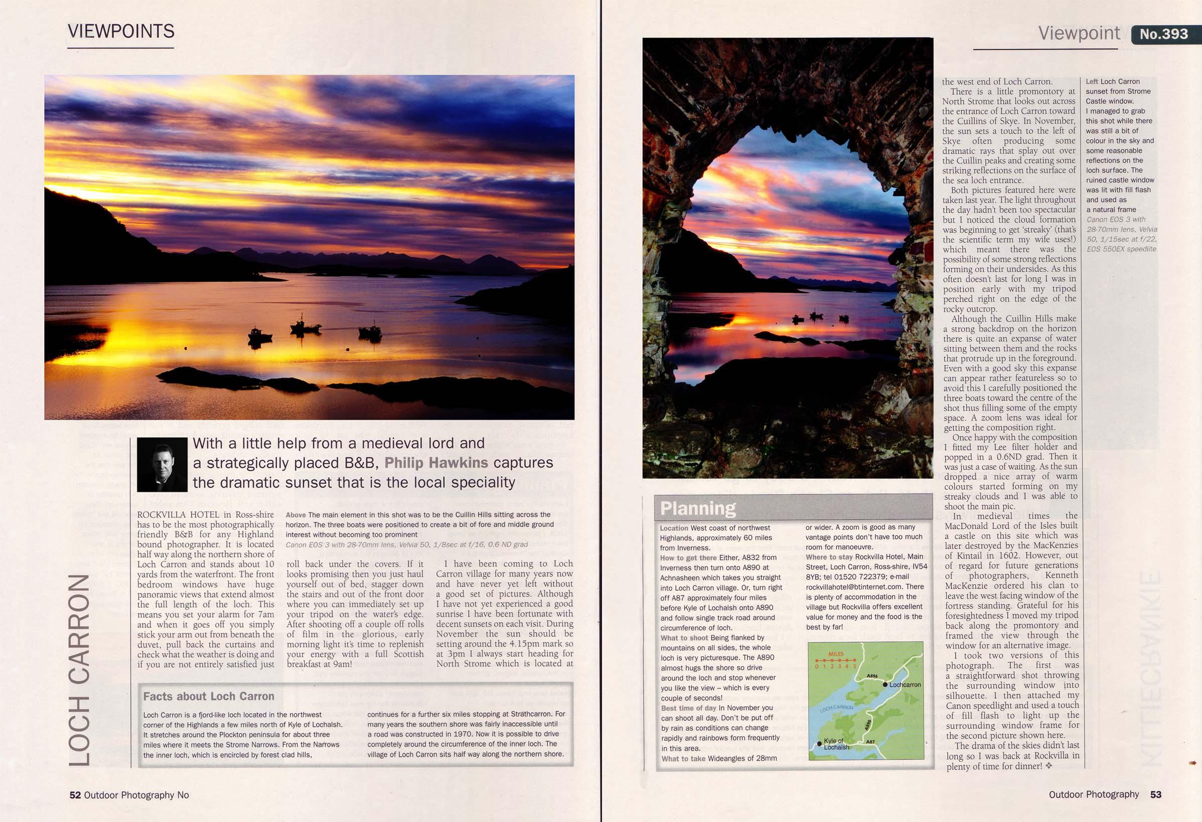 Photography technique series magazine article