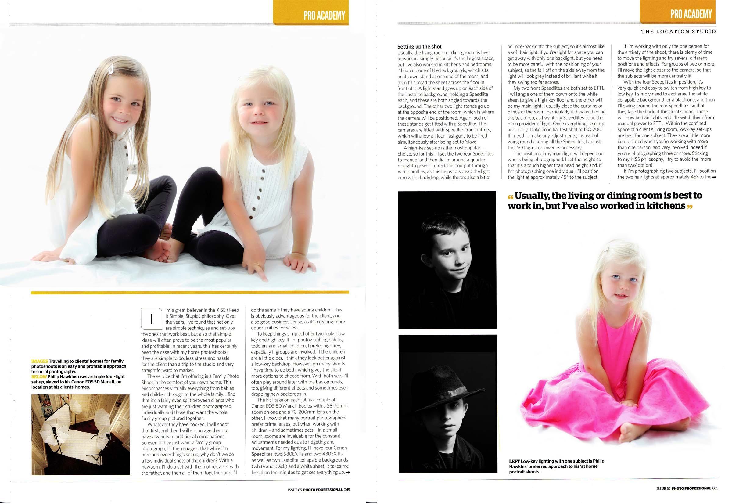 Professional Photo magazine article for professional photographers