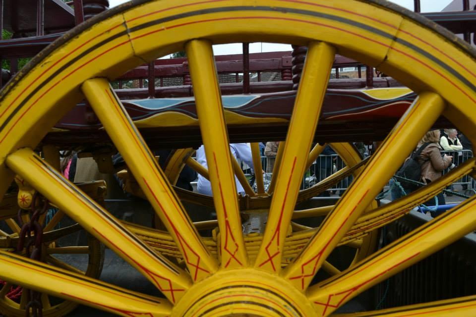 Caravan wheel detail