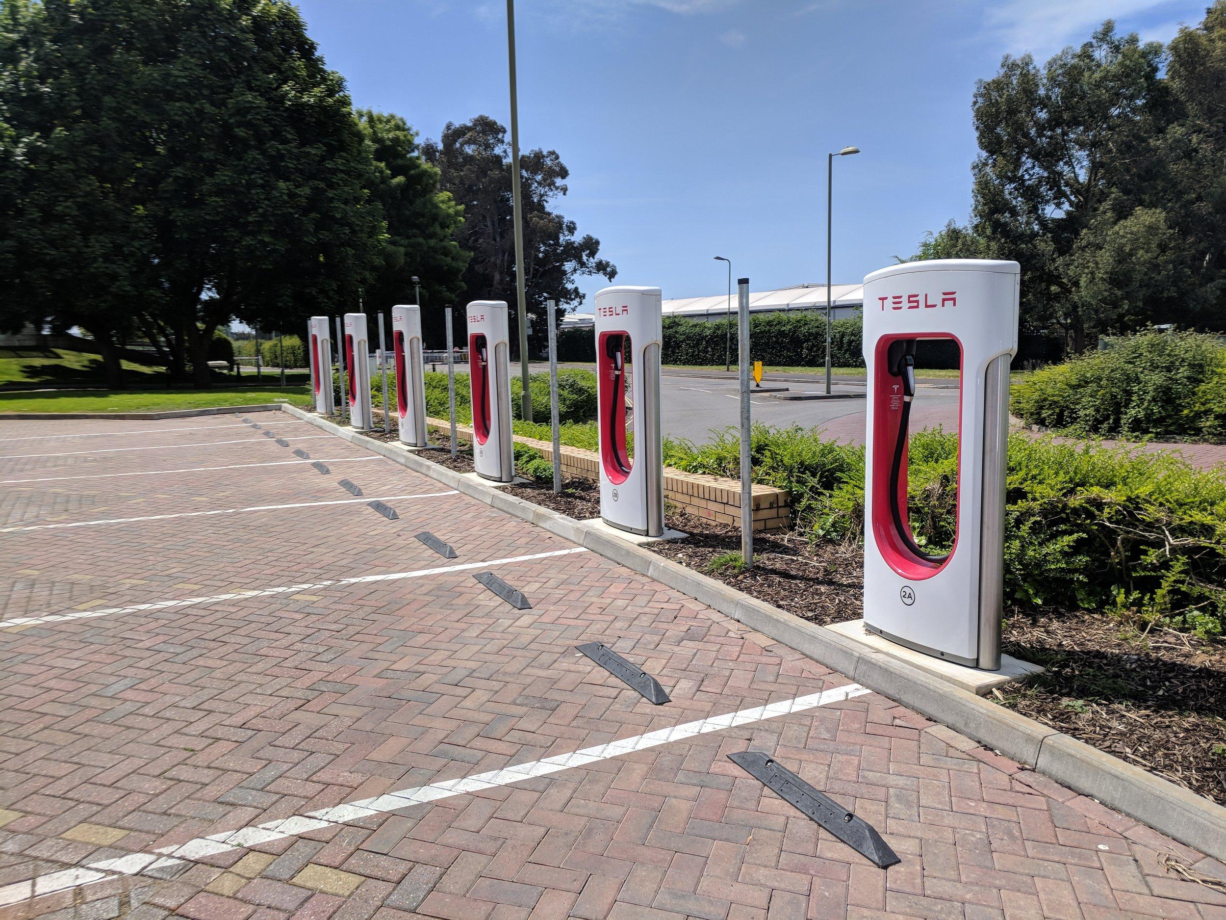 tesla supercharger charging points uk