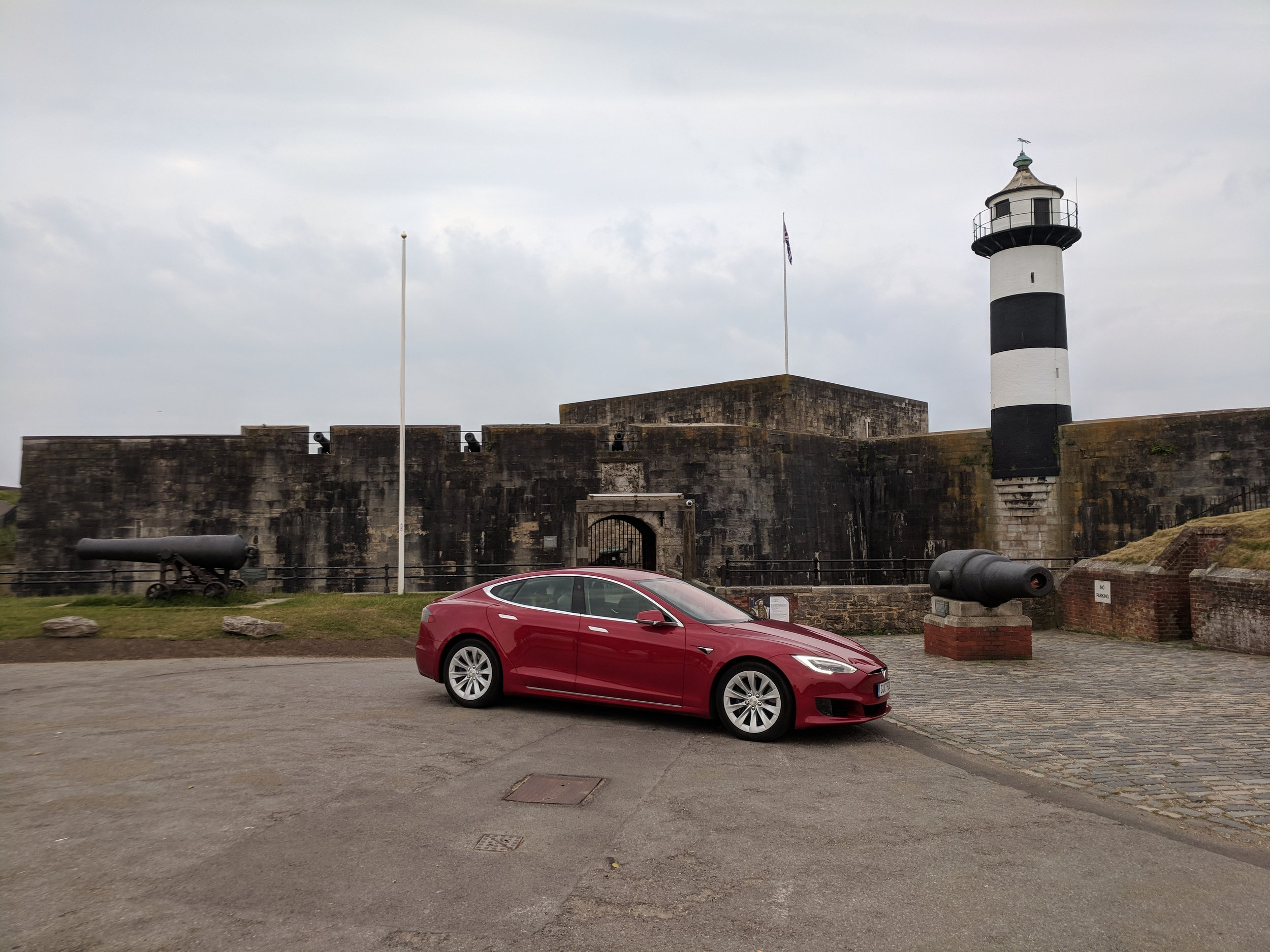 Tesla Model S - Southsea Castle