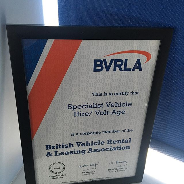 We are proud to announce that we are now members of the @bvrla - same great vehicles and service, just officially recognised #electricvehiclehire #specialistvehiclehire